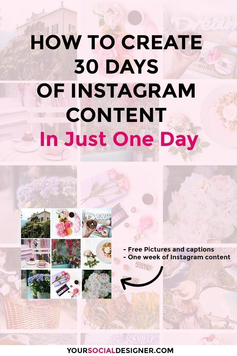 Do you want to learn of to creat 30 Instagram post fast? Today I'm gonna explain to you how to create Create 30 Days of Instagram Content In Just One Day. And I'll do it showing you exactly what I do.